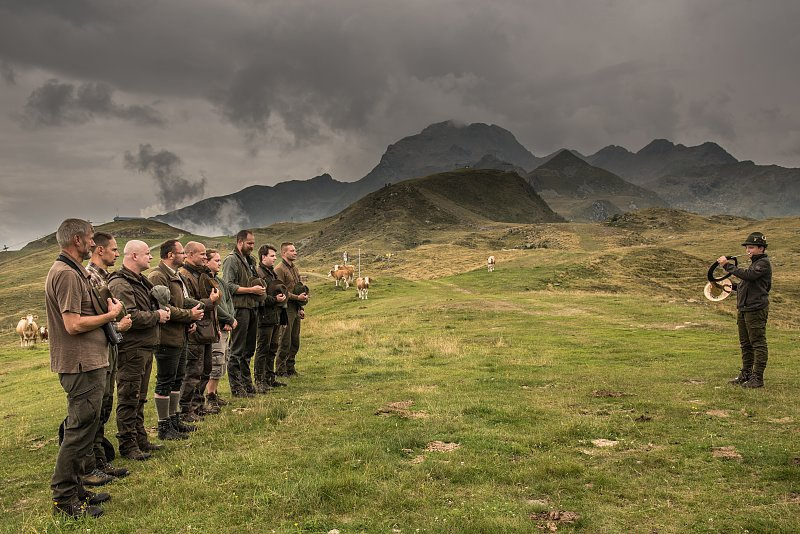 Mankei-Jagd in den Bergen